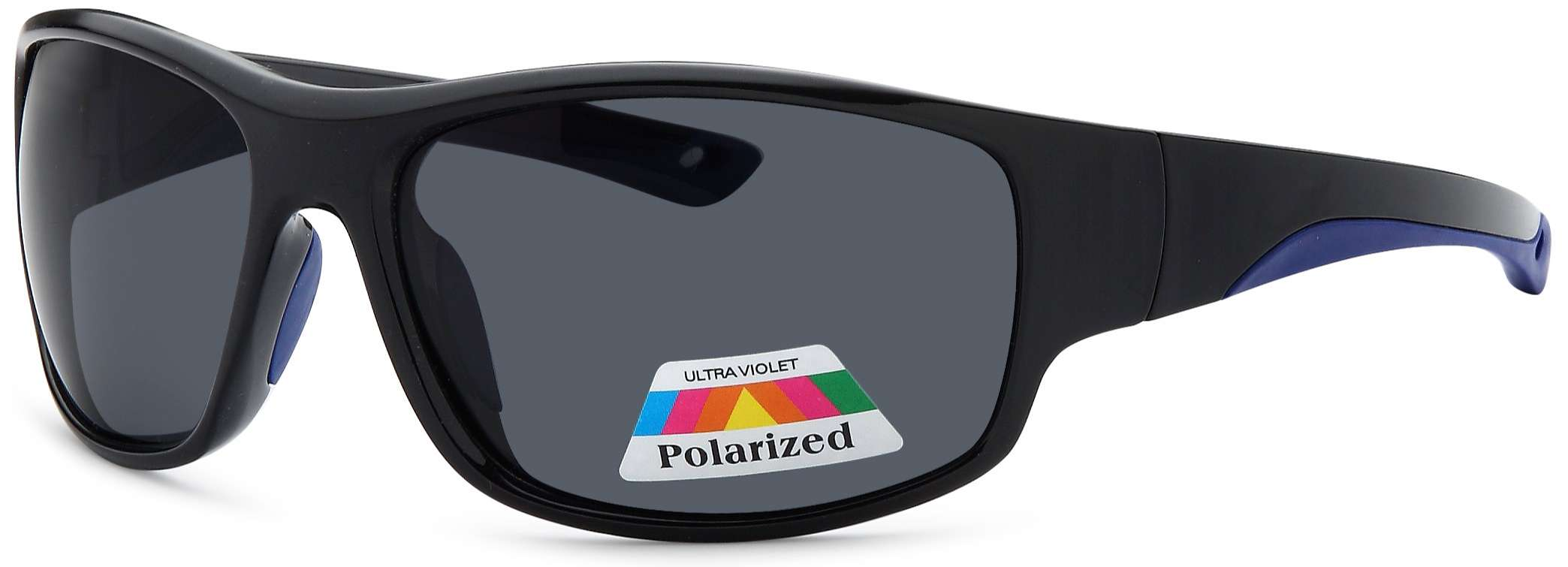 Black frame polarized sunglasses