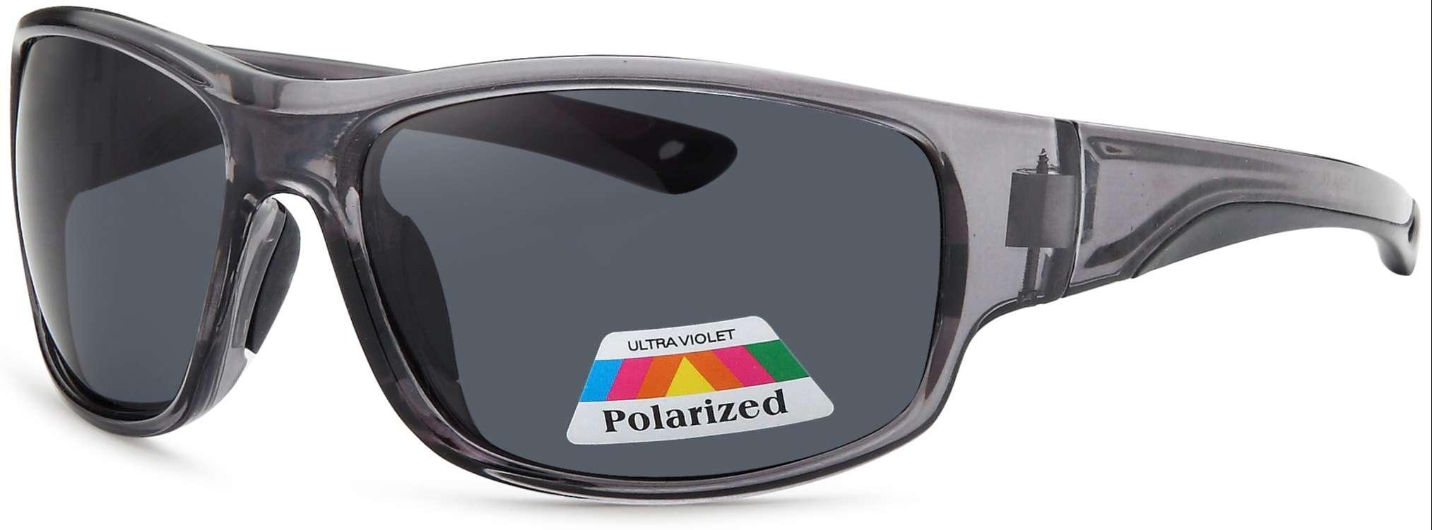 Gray frame smoke lens polarized