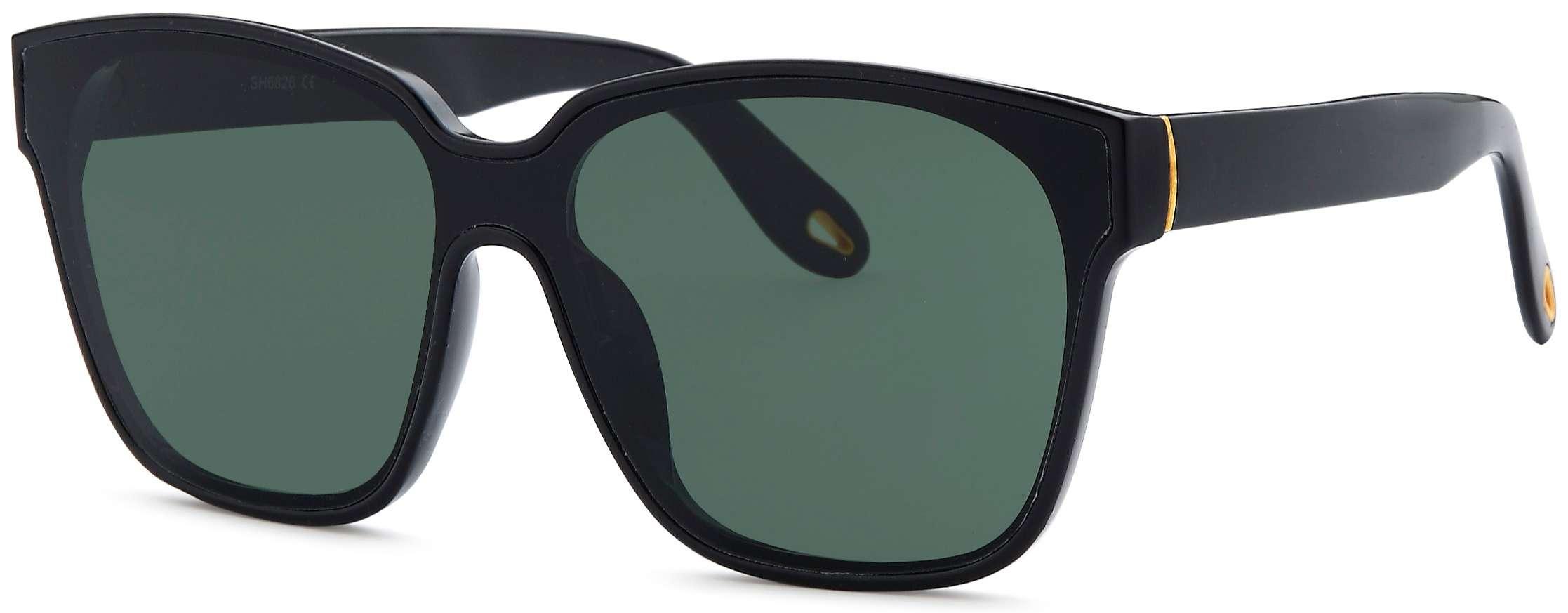 black frame women sunglasses